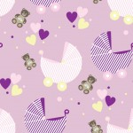 Újszülött lány design egyedi szublimált textil méteráruhoz