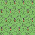 Zöld lepkés design egyedi szublimált textil méteráruhoz