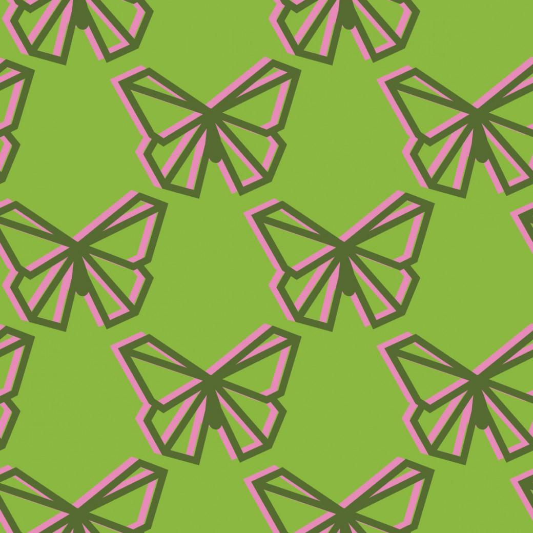 d6ff171b3f Egyedi hátizsák rózsaszín zöld lepkés mintával - Pompoint - A ...
