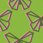 Rózsaszín zöld lepkés design egyedi szublimált textil méteráruhoz