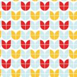 Retro kék sárga piros design egyedi szublimált textil méteráruhoz
