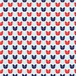 Retro kék piros design egyedi szublimált textil méteráruhoz