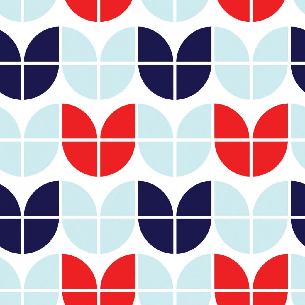 d2e145e8b0 Retro kék piros - Pompoint - A kreatív textil - egyedi textil ...