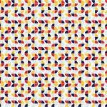 Retro színes design egyedi szublimált textil méteráruhoz