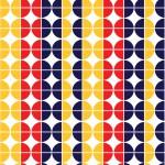 Retro körök design egyedi szublimált textil méteráruhoz
