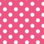 Pöttyös pink design egyedi szublimált textil méteráruhoz