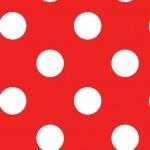 Pöttyös piros design egyedi szublimált textil méteráruhoz