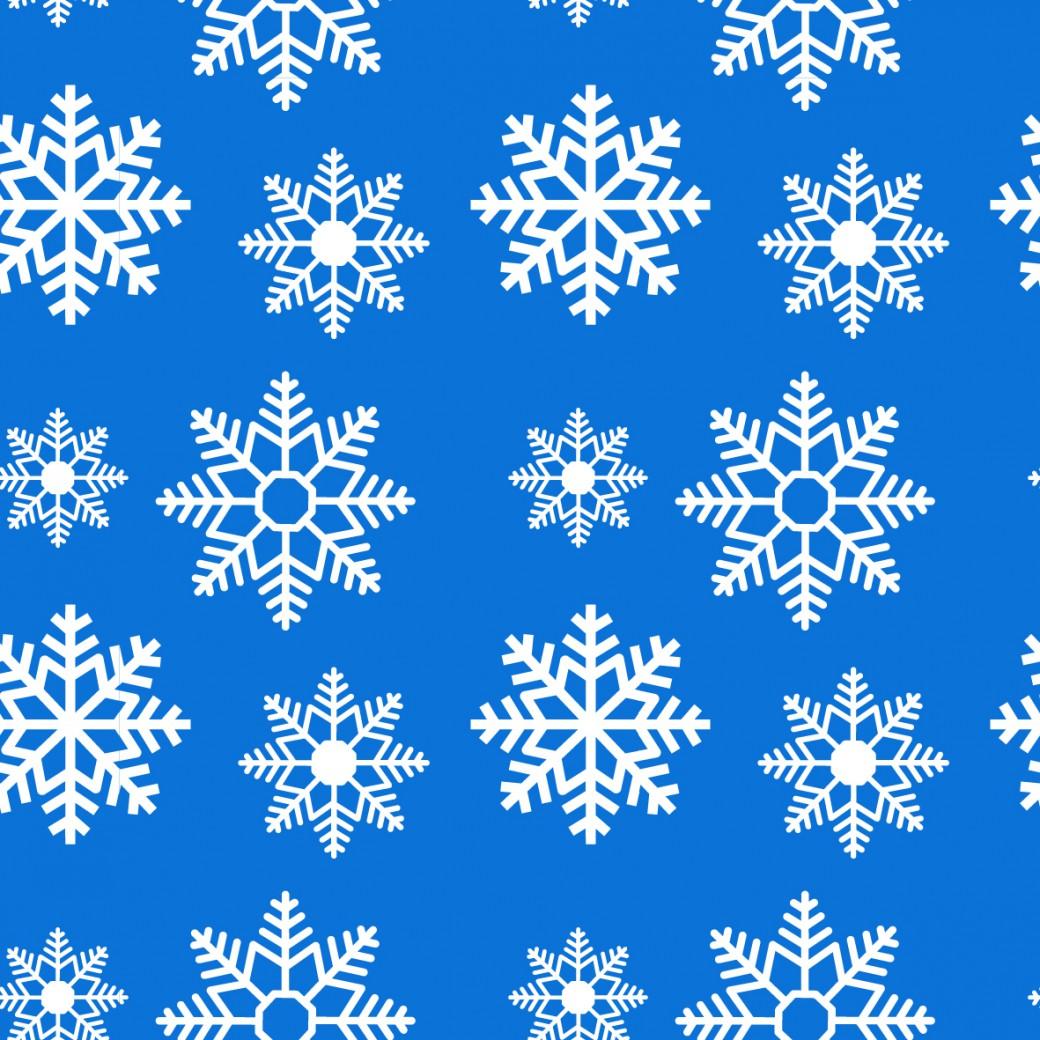 Hópehely kék design egyedi szublimált textil méteráruhoz