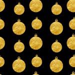 Arany üveggömb design egyedi szublimált textil méteráruhoz