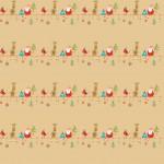 Szarvas és Mikulás design egyedi szublimált textil méteráruhoz