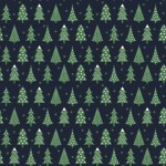 Fenyőfák design egyedi szublimált textil méteráruhoz