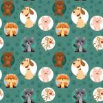 Tappancsosok design egyedi szublimált textil méteráruhoz