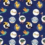 Madarak design egyedi szublimált textil méteráruhoz