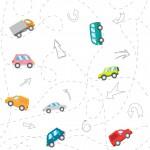 Kusza autóút fehér design egyedi szublimált textil méteráruhoz