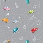 Kusza autóút szürke design egyedi szublimált textil méteráruhoz