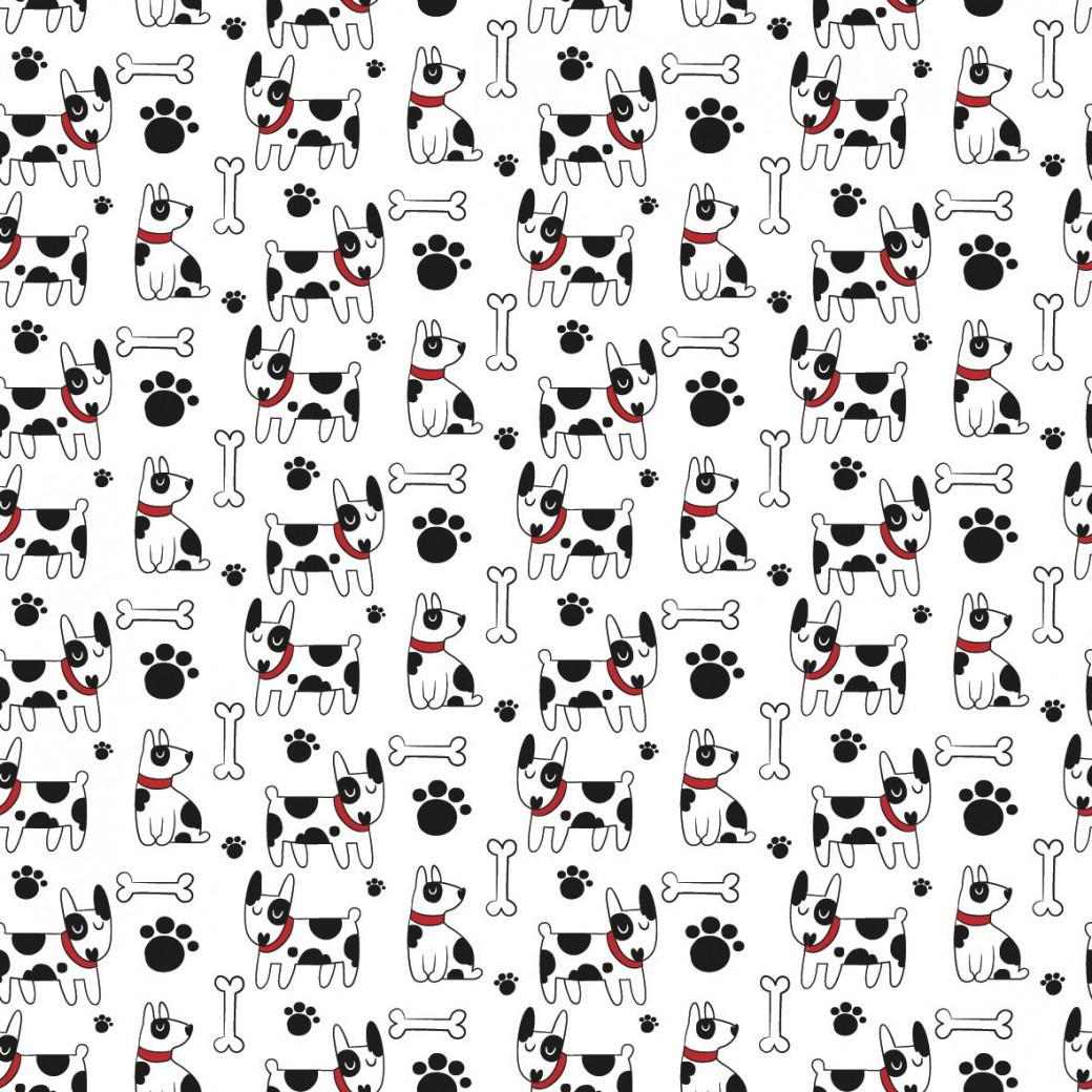 Foltos kutya design egyedi szublimált textil méteráruhoz