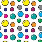 Üveggolyók design egyedi szublimált textil méteráruhoz