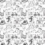 Túrázás fekete fehér design egyedi szublimált textil méteráruhoz
