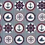 Tengerész körök design egyedi szublimált textil méteráruhoz
