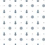 Horgony és kormánykerék design egyedi szublimált textil méteráruhoz
