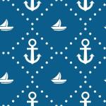 Tengerész négyzetes design egyedi szublimált textil méteráruhoz