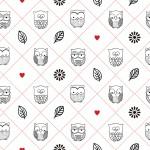 Bagoly piros design egyedi szublimált textil méteráruhoz