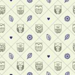 Bagoly kék design egyedi szublimált textil méteráruhoz