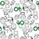 Traktorok design egyedi szublimált textil méteráruhoz