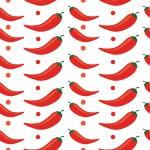 Pirospaprika design egyedi szublimált textil méteráruhoz