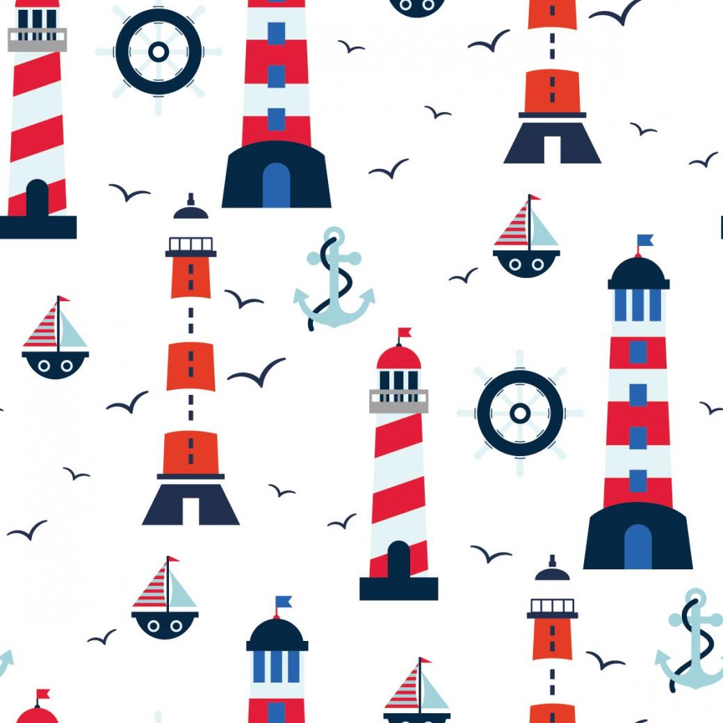 Világítótorony design egyedi szublimált textil méteráruhoz