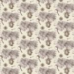 Térkép bézs alapon design egyedi szublimált textil méteráruhoz