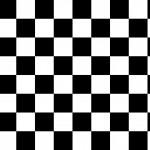 Fekete fehér kockás design egyedi szublimált textil méteráruhoz
