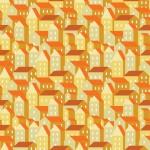 Sárga házak design egyedi szublimált textil méteráruhoz