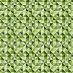 Zöld kockás háromszögek design egyedi szublimált textil méteráruhoz