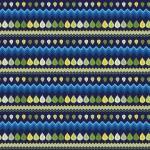 Kék zöld színátmenetes levelek design egyedi szublimált textil méteráruhoz