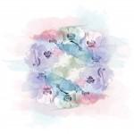 Akvarell orchidea design egyedi szublimált textil méteráruhoz