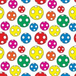 Színes pöttyös labdák design egyedi szublimált textil méteráruhoz