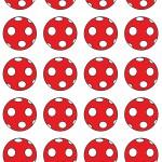 Piros pöttyös labda design egyedi szublimált textil méteráruhoz