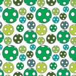 Zöld pöttyös labda design egyedi szublimált textil méteráruhoz