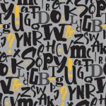 Sárga fekete betűk design egyedi szublimált textil méteráruhoz