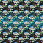 Elvarázsolt gomba design egyedi szublimált textil méteráruhoz