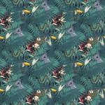 Dzsungel titkai design egyedi szublimált textil méteráruhoz