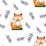 Rókás design egyedi szublimált textil méteráruhoz