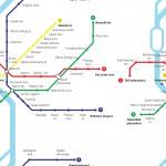 Budapest metró design egyedi szublimált textil méteráruhoz