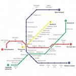 Budapest metróhálózat design egyedi szublimált textil méteráruhoz