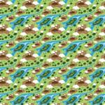 Hegy és folyó design egyedi szublimált textil méteráruhoz