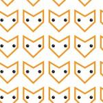 Smaragd szemű róka narancs design egyedi szublimált textil méteráruhoz