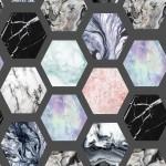 Márvány design egyedi szublimált textil méteráruhoz
