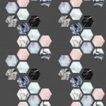 Márvány ritka design egyedi szublimált textil méteráruhoz