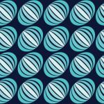 Türkiz Hagyma design egyedi szublimált textil méteráruhoz